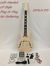 Left-Handed Electric Guitar 239LH DIY Kit,No-Soldering,Set Neck,Semi-Hollow Body