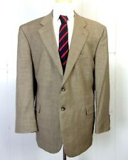 euc Stafford men's Gray Micro Houndstooth 100% Wool Blazer Sportcoat sz 48 R