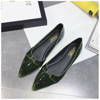 US Women Summer Casual Ballet Flats Pointed Toe Dress Shoes Slim Solid Color US