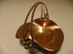 Hammered copper decorative basket