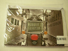 Harley Davidson Tac Pin With Greeting Card, Silver, Brand New
