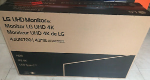 "New Factory Sealed LG 43"" 43UN700-B UltraFine 4K UHD Monitor with USB-C"