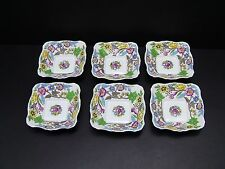 Royal Albert JACOBEAN Square Sweet Meat Dishes / Set of 6 / Rare