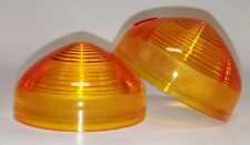 NEW VINTAGE LUCAS STYLE TURN SIGNAL LIGHT LENSES NORTON TRIUMPH BSA SET OF TWO