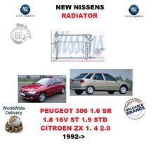 FOR PEUGEOT 306 1.6 SR 1.8 16V ST 1.9 STD CITROEN ZX 1.4 2.0 1992> NEW RADIATOR