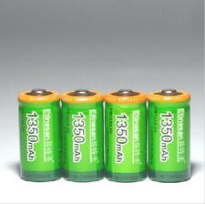 4 pcs 1350mAh  Etinesan 3v CR123A rechargeable LiFePO4 Camera lithium battery