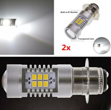 2Pcs Motorcycle Moped White P15D 2835 SMD 16 LED Bulbs DRL Fog Light Waterproof