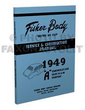 1949 Chevy Car Body Shop Manual 2 Door 4 Door and Convertible Chevrolet Repair