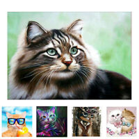 EE_ CAT ANIMAL DIAMOND PAINTING CROSS STITCH EMBROIDERY DIY HOME WALL DECOR SUPR