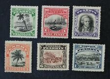 Ckstamps: Gb Penrhyn Island Stamps Collection Scott#25-30 Mint H Og #29 Thin