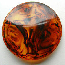 New listing Big~Extra Large Tortoise Shell Bakelite Button Slight Cone Shaped 2-3/4�