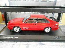 AUDI Quattro 10V Turbo Coupe rot red 1980 Minichamps RAR Audi Dealer 1:18