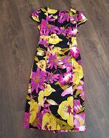 Star dress Julian Mcdonald lady floral Dress Size 8 uk women wedding christen C1