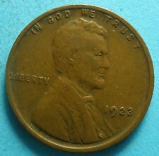 *1923-P*   Lincoln Wheat Cent  vf  free shipping