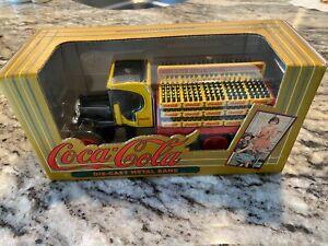 COCA-COLA TRUCK DIE CAST METAL BANK - NEW NEVER DISPLAYED