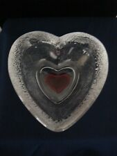 Brighton Red Heart Dish Double Heart Design Jewelry Dish Ring Dish Textured