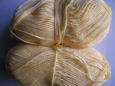 Fashion Plus Mill End yarn, yellow, 2  skeins ( total 7 oz)