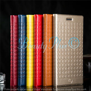 LEATHER CASE COVER FLIP WALLET FOR APPLE iPHONE & SAMSUNG GALAXY MOBILE PHONES