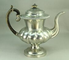 ! 1820-30 Lg Antique Pewter Tea Coffee Pot Dixon & Son Sheffield England