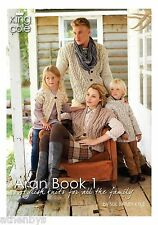King Cole Aran Book 1 by Sue Batley-Kyle  Knitting Book over 30 items to knit