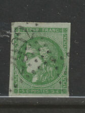 FRANCE #41 5 c  Ceres 1870 Yellow green used F-VF Bordeaux issue imperforate