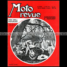 MOTO REVUE N°1395-c MATCHLESS 600 G11 JAWA 250 NSU MAX FABRIQUE NATIONALE 1958