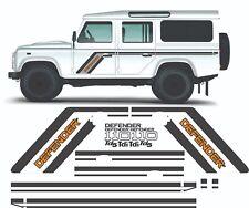 Defender County 110 Tdi Td5 V8 side Graphics stickers stripes Restoration land