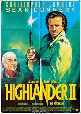 Highlander 2 The Quickening Lambert Connery Orig.-Filmplakat Standard