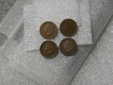 Indian Head Penny 1895 1896 1897 1898 One 1 Cent 4 Different 1c Coins 4 Pennies