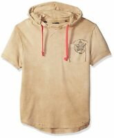 Buffalo David Bitton Mens Hoodie Beige Size XL Drawstring Pullover $59 006