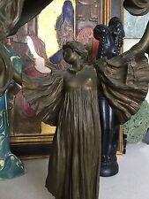 Art Nouveau Bronze Sculpture By Agathon Leonard (1841 - 1923) Loie Fuller