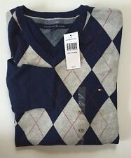 NWT Tommy Hilfiger Men V Neck Sweater Pullover Size XXL 100% Cotton Msrp:59.99