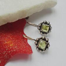 Peridot Blüte, grün, hellgrün, Ohrringe, Ohrhänger, 925 Sterling Silber, neu