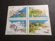 Brazil, 1981, Serie Stamps Protection Nature, Bird, Fish, MNH