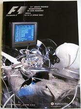 SAN MARINO GRAND PRIX ufficiale sport automobilistico programma APR 2001 ITA / ENG