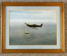 RAF Battle of Britain Spitfire Aviation art print by Gerald Coulson - FRAMED
