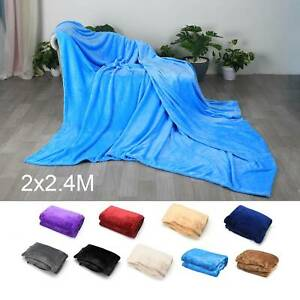 200X240CM Super Soft Faux Fur Fleece Throw Mink Large Sofa Bed Blanket King Size