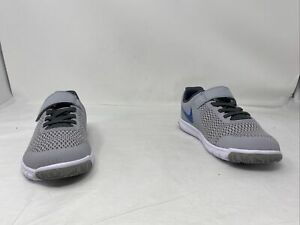 Nike Boys Flex Experience 5 Running Shoe Grey/Blue/White Size 1Y US
