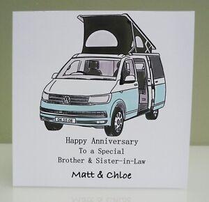 Personalised Anniversary Camper Van Card - Wedding Anniversary - VW Transporter