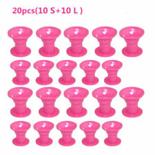 20pc Silicone Hair Curler Magic Hair Care Roller Hair Styling Tool Pink new