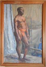 Slade School, Life Study of a Black Man. Original Oil by Marie Hartley MBE, 1931