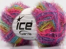 Sparkle Color #57400 Pink Mint Blue Green Lilac - Ice Short Eyelash Craft Yarn