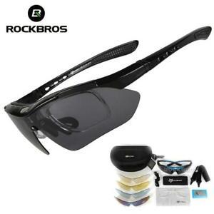 ROCKBROS 5 Lens Polarized Cycling Glasses Eyewear Bike Goggles Fish Sunglasses