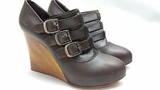WOMAN SHOES CHLOE' 37 US 7 MADE IN ITALY SILVERADO WOOL BROWN LEATHER NWB