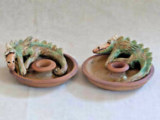 Dragon Candlestick Holders  ~ Whimsical ~ Wild Earth Studios ~ Lila Stuart