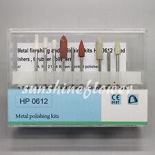 Dental Metal Crown and Steel Base Finishing Polishing Kit 9 Pcs/Set HP 0612
