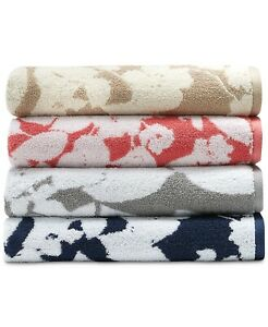 RALPH LAUREN SANDERS Floral Bath, Hand and Washcloth Towels Multi-Colors Cotton