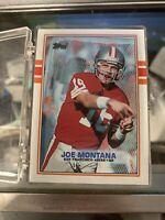 50 quantity - Joe Montana 1989 Topps # 12 high grade cards