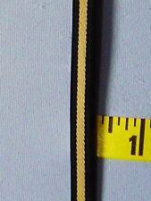 """3/8"""" Shoulder Strap Stripe Elastic 2 tone Beige Black Shiny Garter Bra 5 yds #8"""