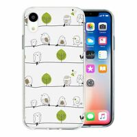 For Apple iPhone XR Silicone Case Birds Pattern - S3025